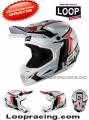 CASCO LEATT  WHITE/BLACK/RED