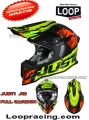 Casco Just 1 DOMINATOR J12 neon lime - red