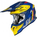 Casco Just 1 j39 Reactor Giallo Blu Opaco