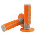 Manopole PROGRIP gray/orange Cross/Enduro Tripla densita'