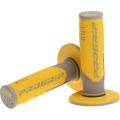 Manopole PROGRIP gray/yellow Cross/Enduro Tripla densita'