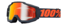 Occhiali/Mascherina 100% ACCURI Gunmetal IRIDIUM doppia lente
