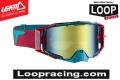Occhiali/Mascherina LEATT Velocity 6.5 IRIZ RED/TEAL